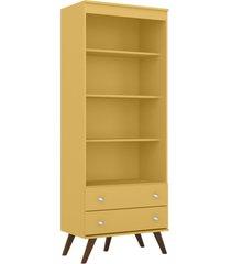 estante 2 gavetas amarela