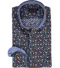 giordano overhemd regular fit blauwe print