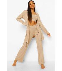 petite 3-delige pyjama set met broek, stone