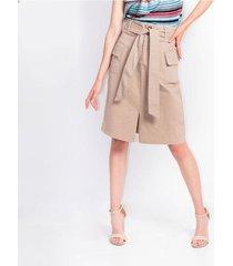falda para mujer en dril cafe color-cafe-talla-4
