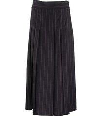 broeken comfort scheerwol krijt streep rok-broek