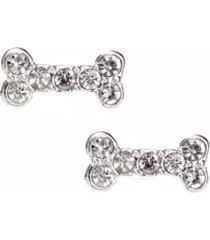 pet friends jewelry pave bone stud earring