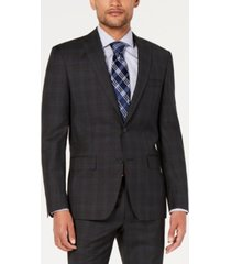 dkny men's modern-fit wool jacket