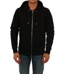 balmain logo hoodie black