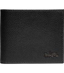men's coach leather bifold wallet - black
