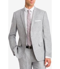 bar iii light gray chambray slim-fit jacket, created for macy's