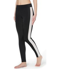 calzedonia leggings with glittery micronet band and piping woman black size s