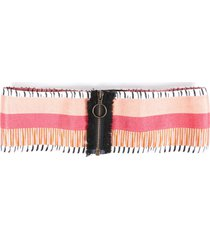 missoni striped waist belt orange/multicolor sz: l