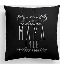 poduszka full print tutaj drzemie cudowna mama (+ imię)