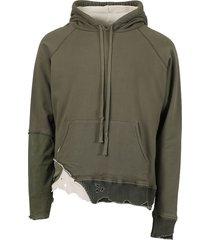 fragment hoodie sweatshirt, army green