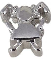 berloque papillô joias menina, ródio branco prata