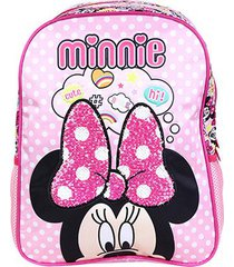 mochila escolar infantil disney xeryus minnie magic bow
