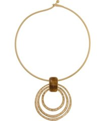 the sak coil ring pendant necklace
