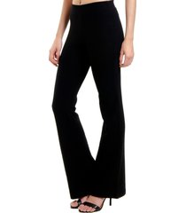calça 101 resort wear flare pique elastano neoprene preta
