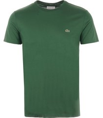 lacoste pima cotton jersey t-shirt - green  th6709132