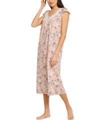 charter club petite lace-trim nightgown, created for macy's