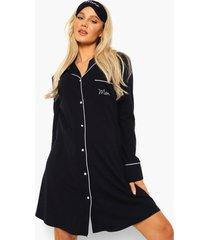 zwangerschap 3-delige mama pyjama set, navy