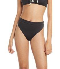 women's billabong onyx wave high waist bikini bottoms