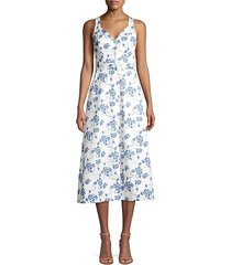 oleisa floral print a-line dress