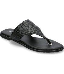 flat sandal toe slide em pa-pl shoes summer shoes flat sandals svart calvin klein