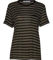 new striped slub - ss top t-shirts & tops short-sleeved multi/mönstrad t by alexander wang