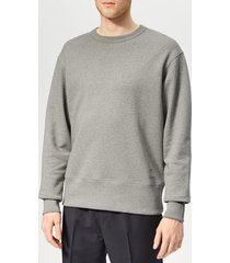 acne studios men's fayze sweatshirt - grey melange - xl