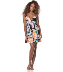 vestido negro-multicolor maaji swimwear fresh breeze short