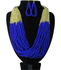 collar artesanal azul sasmon cl-12334