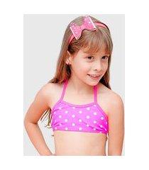 tiara piscina lua dance laço rosa estrelada