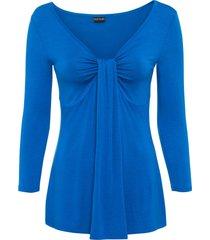 maglia drappeggiata (blu) - bodyflirt
