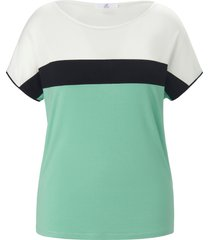 shirt ronde hals en colourblocking van emilia lay groen