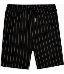 mens black and white stripe shorts