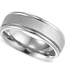 triton men's titanium ring, comfort fit wedding band