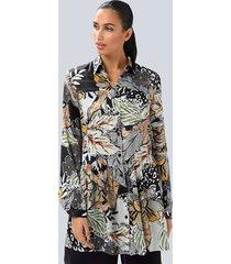 blouse alba moda zwart::offwhite