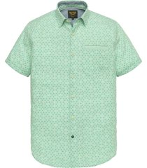 short sleeve shirt chambray print opal
