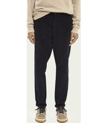 scotch & soda dean loose tapered fit chino van katoenen twill