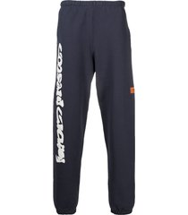 heron preston logo-print track pants - blue