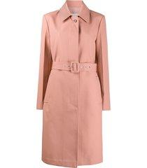 jil sander belted trench coat - pink