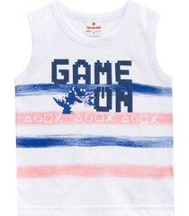 camiseta regata game brandili branco - kanui