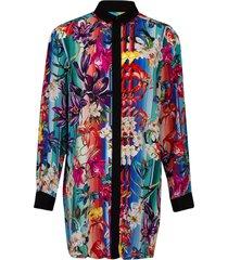 goya floral shirt dress