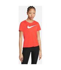 camiseta nike dri-fit swoosh run feminina