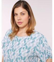 blusa con arandela en mangas verde 16
