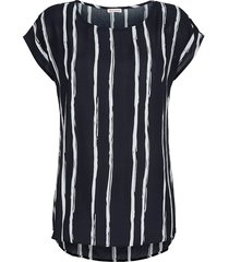 blouse alba moda marine/offwhite