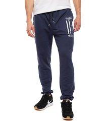 pantalón de buzo coca-cola azul - calce regular
