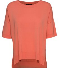 sfwille ss knit pullover t-shirts & tops short-sleeved rosa selected femme
