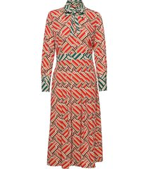madie printed dress knälång klänning röd morris lady