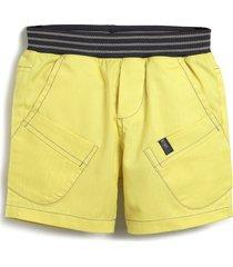 bermuda green menino liso amarela - amarelo - menino - algodã£o - dafiti