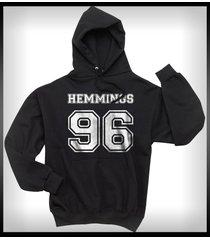 hemmings 96 luke hemmings 5sos on front unisex hoodie black