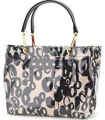 glossy grip tote bag abstract drops