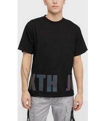 sixth june t-shirt with iridescent print t-shirts & linnen black